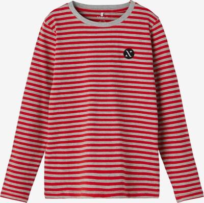 Marškinėliai 'FINNE' iš NAME IT, spalva – margai pilka / raudona, Prekių apžvalga