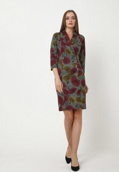 Madam-T Kleid 'KONTATA' in grau, Modelansicht