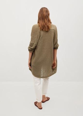 Geacă tricotată 'Linko' de la MANGO pe verde
