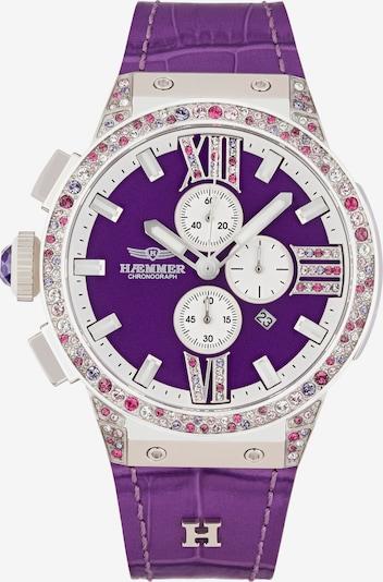 HAEMMER Uhr in lila / pink / silber / weiß, Produktansicht
