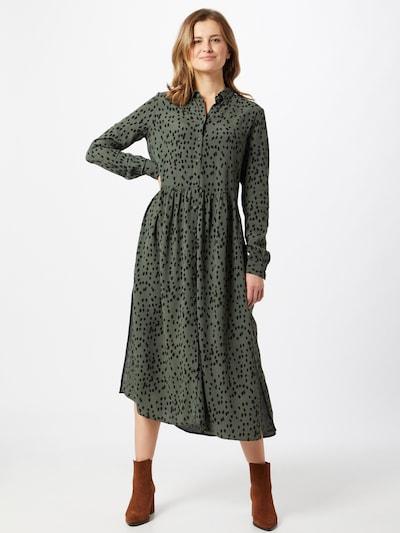 mbym Kleid 'Ellia' in khaki / dunkelgrün, Modelansicht