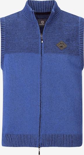 Jan Vanderstorm Bodywarmer 'Ove' in de kleur Nachtblauw / Royal blue/koningsblauw / Bruin, Productweergave