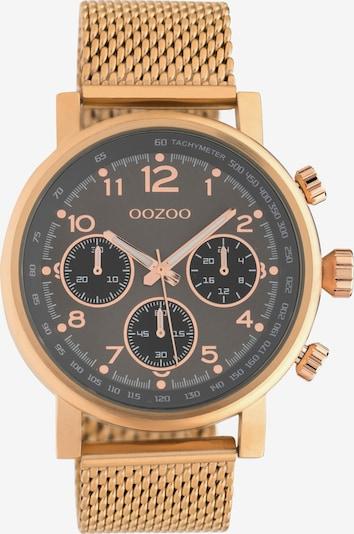 OOZOO Quarzuhr in rosegold / schwarz, Produktansicht