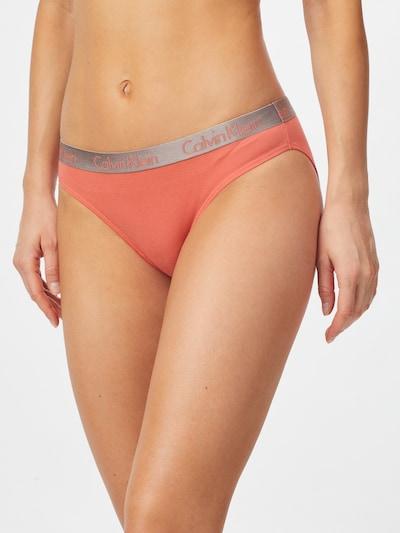 Calvin Klein Underwear Слип в корал / сребърно: Изглед отпред
