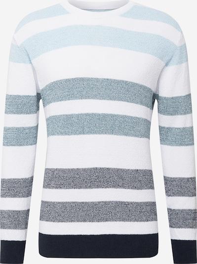Kronstadt Pullover 'Preston' in nachtblau / hellblau / graumeliert / weiß, Produktansicht