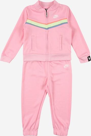 Nike Sportswear Jogginganzug 'HERITAGE' in hellgelb / grasgrün / rosa / hellrot / weiß, Produktansicht