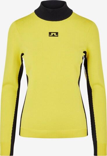 J.Lindeberg Pullover 'Kay' in gelb / schwarz, Produktansicht