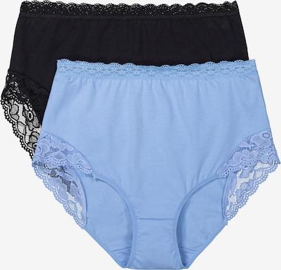 Ulla Popken Slips in himmelblau / schwarz, Produktansicht