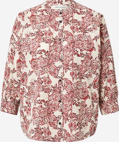Lollys Laundry Bluse 'Ralph' in beigemeliert / rot / schwarz, Produktansicht