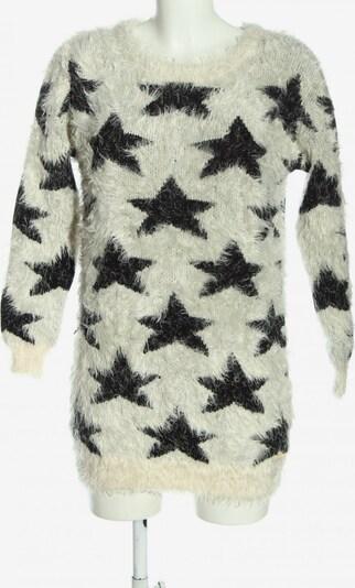 Fornarina Rundhalspullover in XS in schwarz / weiß, Produktansicht