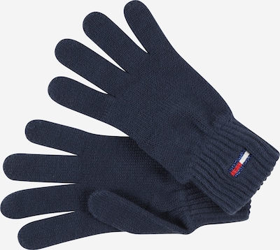 Tommy Jeans Full Finger Gloves in Navy / Red / White: Frontal view