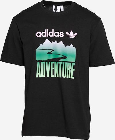 ADIDAS ORIGINALS Tričko 'Adventure Mountain' - zelená / ružová / čierna, Produkt