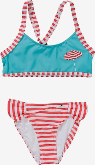 FASHY Kinder Bikini in türkis / rot, Produktansicht