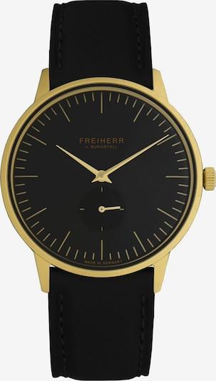Freiherr v. Burgstall Uhr in gelb / schwarz, Produktansicht