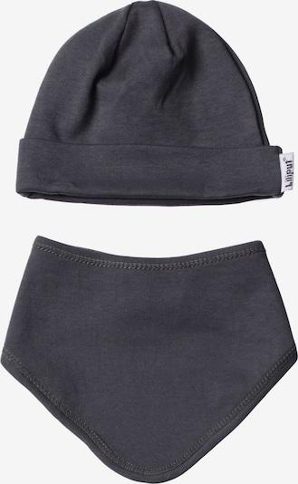 LILIPUT Baby-Mütze und Halstuch im 2er-Set in schlichtem Design in grau, Produktansicht
