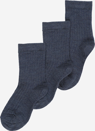 mp Denmark Socken in blue denim, Produktansicht