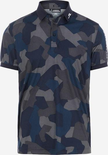 J.Lindeberg T-Shirt fonctionnel 'Tour Tech' en bleu nuit / bleu foncé / gris / olive, Vue avec produit