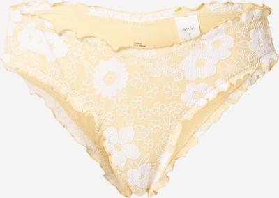 AERIE Bikini donji dio u žuta / bijela, Pregled proizvoda
