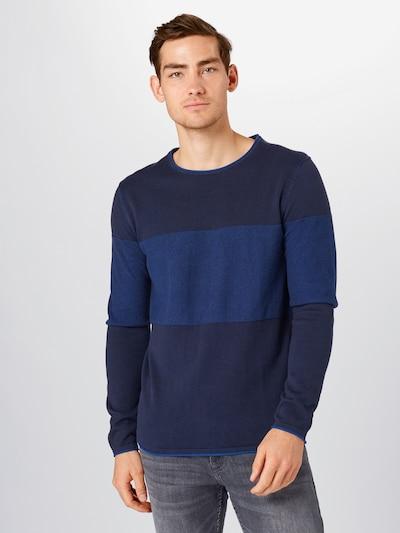 Megztinis iš EDC BY ESPRIT , spalva - mėlyna / tamsiai mėlyna: Vaizdas iš priekio
