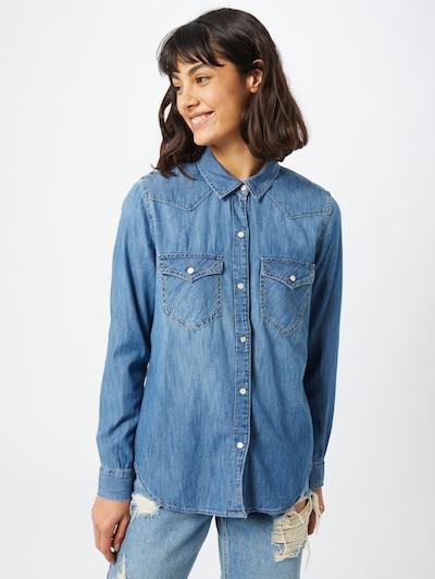 GAP Bluse in blue denim, Modelansicht