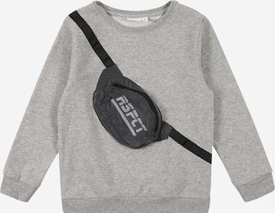 NAME IT Sweatshirt 'TOMA' in dunkelgrau / graumeliert / schwarz, Produktansicht