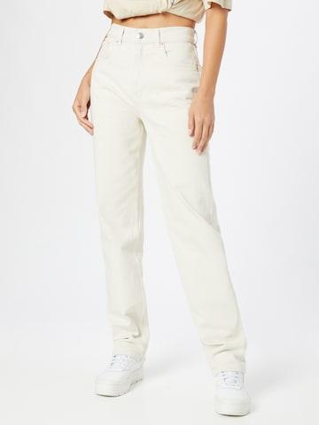 Gina Tricot Teksapüksid, värv valge