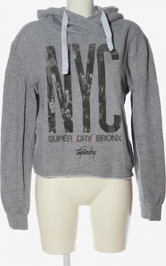 Superdry Kapuzensweatshirt in M in hellgrau / schwarz, Produktansicht