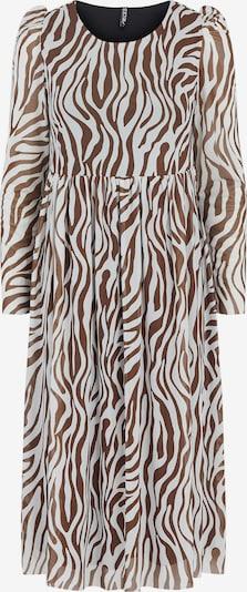 PIECES Kleid 'ZEE' in braun / weiß, Produktansicht