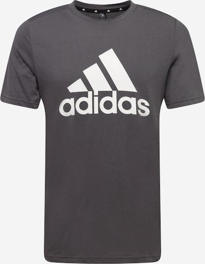 ADIDAS PERFORMANCE Sportshirt in dunkelgrau / weiß, Produktansicht