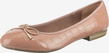 JANE KLAIN Ballet Flats in Brown
