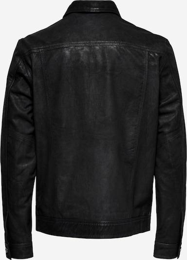 Only & Sons Lederjacke in schwarz, Produktansicht
