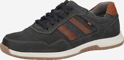 FRETZ MEN Sneaker in marine / cognac, Produktansicht