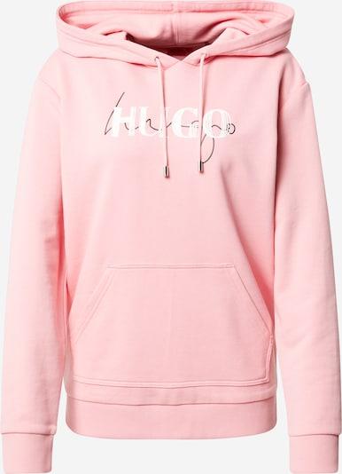HUGO Sweatshirt 'Dasara' in de kleur Antraciet / Lichtroze / Wit, Productweergave