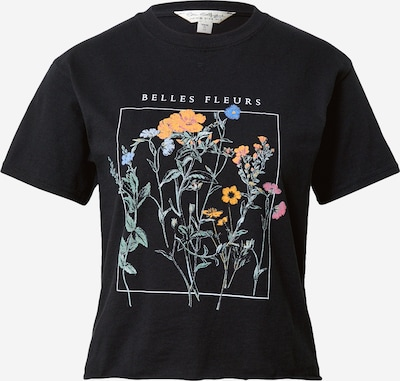 Miss Selfridge T-Shirt in hellblau / orange / pink / schwarz, Produktansicht
