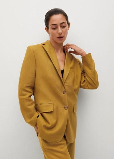 MANGO Blazer 'Perth-I' in curry, Modelansicht