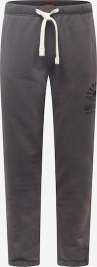Superdry Hose 'LA BEACH' in dunkelgrau / schwarz, Produktansicht