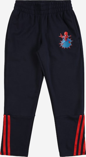 ADIDAS PERFORMANCE Sporthose in blau / navy / rot, Produktansicht