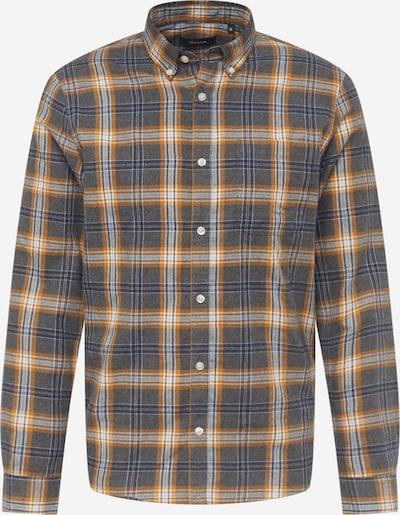 Matinique Camisa 'Trostol' en azul oscuro / dorado / gris moteado / blanco, Vista del producto