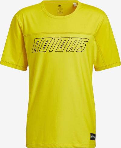 ADIDAS PERFORMANCE T-Shirt fonctionnel en jaune / noir, Vue avec produit