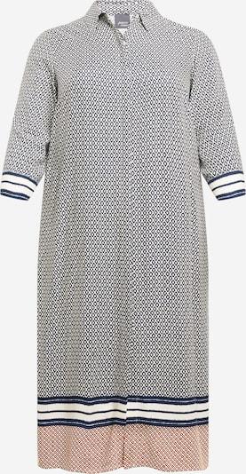 Persona by Marina Rinaldi Robe-chemise 'DATA' en bleu foncé / marron / blanc, Vue avec produit