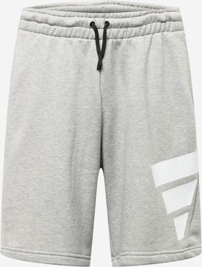 ADIDAS PERFORMANCE Sportske hlače u siva melange / bijela, Pregled proizvoda