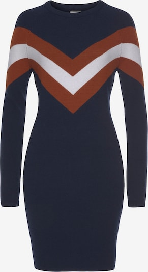 TAMARIS Dress in marine blue / Cognac / White, Item view