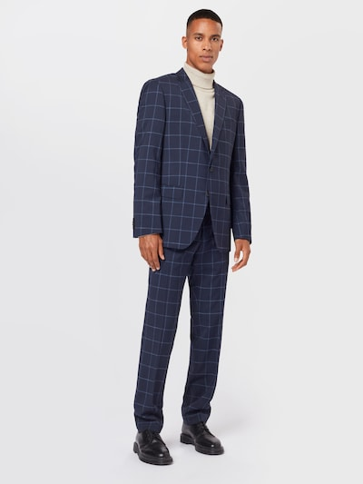 BOSS Anzug 'Huge6/Genius5' in hellblau / dunkelblau: Frontalansicht