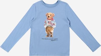 Polo Ralph Lauren T-Shirt 'BEAR' en bleu fumé / mélange de couleurs, Vue avec produit