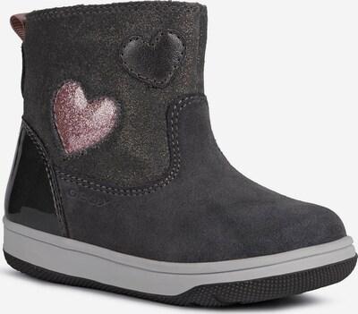 GEOX Kids Stiefel in dunkelgrau / rosa, Produktansicht