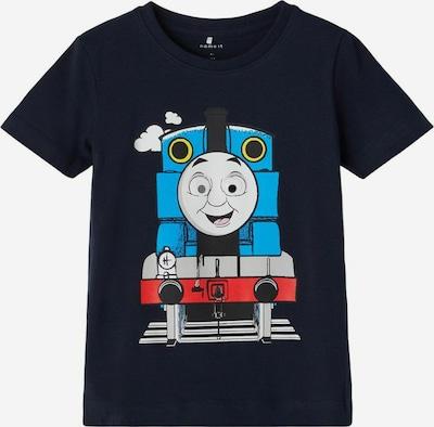 NAME IT T-Shirt 'Thomas Train' en bleu ciel / bleu foncé / gris / rouge: Vue de face
