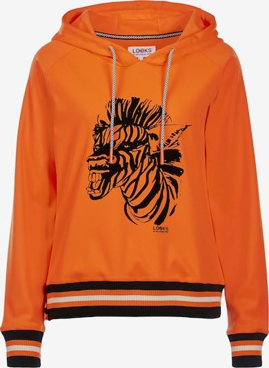 LOOKS by Wolfgang Joop Hoody ' Zebra-Print ' in orange / schwarz, Produktansicht