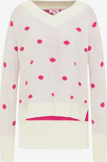 MYMO Pullover in dunkelpink / wollweiß, Produktansicht