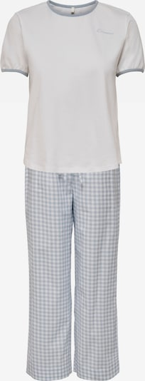 ONLY Pijama 'Andrea' en marrón claro / blanco, Vista del producto
