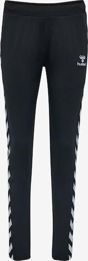 Hummel Pantalon de sport en noir / blanc, Vue avec produit